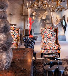 Luxury & prèt furniture custom designed by Sussanne Khan for The Charcoal Project.