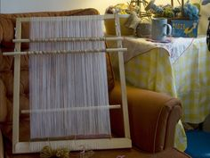 Tapestry Loom - Tutorial to make and warp this loom which allows you to weave almost double the looms length!