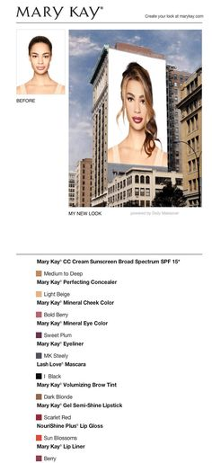 350901942a I just got a great new look using the FREE Mary Kay® Virtual Makeover.