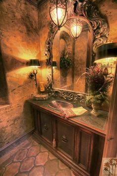Old World Tuscan Style Bathrooms | ... .com | Mediterranean/Old World/Traditional/Tuscan Bathrooms an