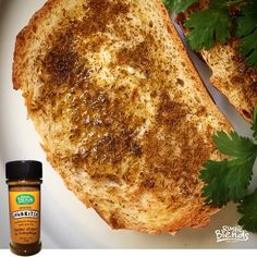 Toasted bread, butter and Chubritsa!    #Chubritsa - #Bulgarian table #seasoning #blend     All Natural  No Fillers  No MSG  No Artificial Colors, Flavors or Preservatives  Vegan  Paleo  Hand-Crafted and Hand-Packed in California  2.75 ounce (78 gram) net wt.  We grind only the freshest herbs and spices to ensure highest quality for our customers.  Available on Amazon amzn.to/1Bqbdui with FREE Shipping! ✈️