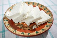 Sirene- traditional feta cheese. Unlike other feta you buy at the store, Bulgarian feta is kept in a tight container filled with salty water to keep that creamy, salty moist taste.