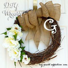 Easy DIY Wreath For All Seasons - My Newest Addiction