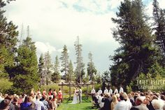 Emily Heizer Photography with Flair Sacramento, CA, Salt Lake City UT, Washington DC Weddings: Ryan & David The Hideout Ceremony in the mountains in the woods in a clearing