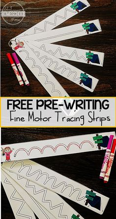 FREE Camping Tracing Strips for Fine Motor Skills - these free printable pre writing strips are perfect to help toddler, preschool, and kindergarten age kids strengthen their muscles so they are ready to write letters. These handwritting worksheest are perfect for summer learning or centers with their fun camping theme.#prewriting #preschool #kindergarten #freeprintable
