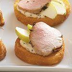 canapés aux pommes et filet de porc / Apple and pork tenderloin canapes