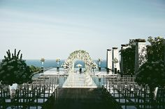 Wilis and Etika tied the knot on a floating platform over the pool at Banyan Tree Ungasan, Bali, looking out onto the gleaming Indian Ocean and captured by Axioo. It was just the beginning of what was to be a stunning celebration as the bride and Dina of Rosebarrel Décor's vision of blue-and-white porcelain chinoiserie infused with ornate rococo elements elevated their evening to what can only be described as sensational.