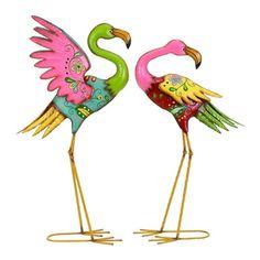 Outdoor Flamingo Set - Overstock™ Shopping - Great Deals on Garden Accents
