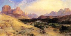 Zion Valley, South Utah, 1916  Moran, Thomas  Painting Reproductions