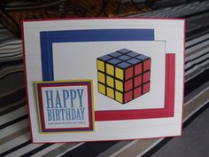 Rubik's Cube Birthday Card!