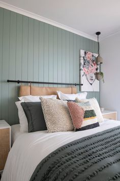 A Master Bedroom Renovation with Bunnings (Watch My Episode!) (a pair & a spare) Feature Wall Bedroom, Bedroom Wall, Master Bedroom, Bedroom Decor, Old Window Frames, Paris Bedroom, Cushion Headboard, Traditional Bedroom, Modern Traditional