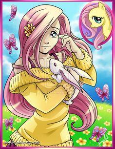 my little pony fan art   flutter shy my little pony by amelie ami chan fan art manga anime ...