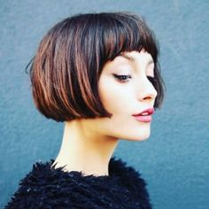 2019 Short BOB With Bangs For Different Look, Do Not Miss Them! The 2019 Short BOB haircuts seem to have found for several years, his place of glory, Asymmetrical Bob Haircuts, Stacked Bob Hairstyles, Short Bob Haircuts, Curly Bob Hairstyles, Layered Haircuts, Latest Hairstyles, Short Bobs With Bangs, Bobs For Thin Hair, Bob Haircut With Bangs