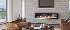 30 Modern Gas Fireplaces Ideas from Escea Linear Fireplace, Home Fireplace, Fireplace Remodel, Gas Fireplaces, Fireplace Ideas, Indoor Fireplaces, Fireplace Inserts, See Through Fireplace, Building A New Home