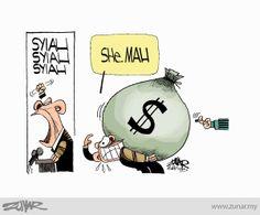 She..Mah #rosmah #malaysia #corruption #rakyat #politicalcartoon