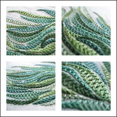 There is everything to love about this example of the herringbone stitch. It's gorgeously stitched, and the colors are perfect.