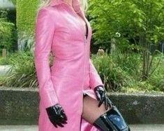 Etsy :: Jouw platform voor het kopen en verkopen van handgemaakte items Leather Jacket Dress, Wrap Dress, Dresses With Sleeves, Trending Outfits, Long Sleeve, Unique, Jackets, Clothes, Vintage