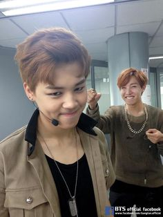 Jiminie and Hoseok.  ♥  Why's Hope always gotta beat up the magnae line?  lol