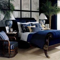 Ralph Lauren blue bedroom