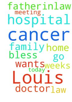 Prayers for my father-in-law Louis. He has cancer and - Prayers for my father-in-law Louis. He has cancer and wants to just get out of the hospital and go home. Family is meeting with the doctor today. He has been in hospital for weeks. God Bless Posted at: https://prayerrequest.com/t/fWD #pray #prayer #request #prayerrequest