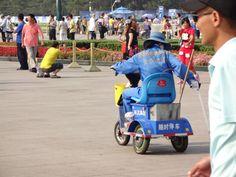 Trash duty on Tiananmen Square.