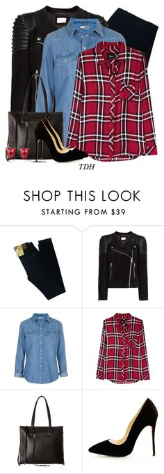"""""""Suede Jacket"""" by talvadh ❤ liked on Polyvore featuring Big Star, MANGO, Topshop, Rails and Rebecca Minkoff"""