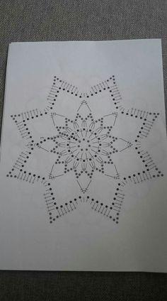 Crochet Gray and Yellow Bobble and Mesh Stitch Blanket Pattern Crochet Diagram, Crochet Chart, Thread Crochet, Crochet Motif, Crochet Doilies, Knit Crochet, Crochet Snowflake Pattern, Crochet Snowflakes, Doily Patterns