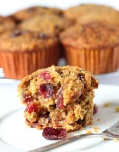 100% Whole Grain Cranberry Orange Oat Muffins- great to make the night before and have for breakfast on a school morning. The whole family likes them!