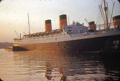 RMS mauretania | RMS Mauretania & Queen Mary, Pier 90, NYC & Hudson River - a photo on ...