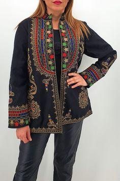 Bell Sleeves, Bell Sleeve Top, Peplum, Kimono Top, Embroidery, Traditional, Denim, Long Sleeve, Women