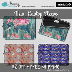 NEW: Laptop Sleeve from Pommy New York. 5% OFF + FREE SHIPPING until Sunday, August 9. Use this promo link: https://society6.com/pommy/laptop-sleeves?promo=4B3PHCJXPPRJ