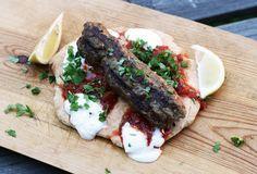 Kebab ja itsetehty pitaleipä