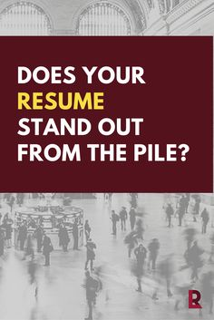 If it doesn't, don't expect your job search to be successful. Get our guide and learn the tips and tricks to stand out! | @redletterresume | What are you waiting for? #resumetips #ebook #career