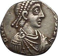 HONORIUS 395AD Mediolanum Milan Siliqua Ancient Silver Roman Coin Roma i53472 https://trustedmedievalcoins.wordpress.com/2016/01/25/honorius-395ad-mediolanum-milan-siliqua-ancient-silver-roman-coin-roma-i53472/