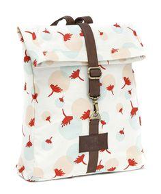 Look at this #zulilyfind! White & Orange Dandelion Fold-Over Backpack by Maika #zulilyfinds