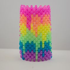 Melting Rainbow Glow in the Dark Cuff