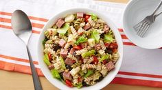 Bring a touch of Italy to the dinner table with a delicious pasta salad bursting with cheese, salami, olives and tomatoes.