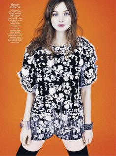 Hailee Steinfeld & Bella Heathcote By Boe Marion As Karl's Angels For Marie Claire US November 2013