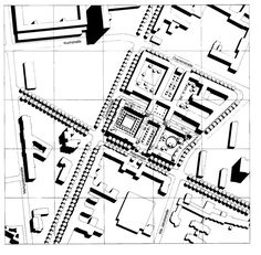 Krier proposal for whole site area north of Ritterstrasse