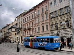 Trams still run in Lviv