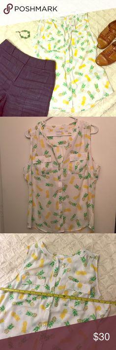 Selling this 🍍Pineapple top🍍 on Poshmark! My username is: kaki_anna. #shopmycloset #poshmark #fashion #shopping #style #forsale #New York & Company #Tops