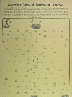 Australian Game of Arithmetical Football 1906 Vintage Games, How To Introduce Yourself, Board Games, Football, Soccer, Tabletop Games, American Football, Soccer Ball, Folder Games