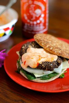 Eat Good 4 Life » Baked Black bean burgers.
