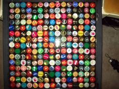 how to make a bottle cap table... still saving caps but sooo going to do this someday!