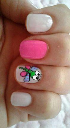 Uña Nail Polish Art, Nail Polish Designs, Gel Nail Art, Nail Art Designs, Cute Nails, Pretty Nails, Green Nail Designs, Watermelon Nails, Magic Nails