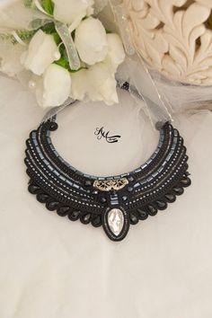 Soutache necklace. Black necklace. от AMdesignSoutache на Etsy