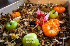 Autumn FairyLand: a magical small world play bin by www.mysmallpotatoes.com