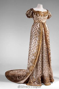 Dress worn to the wedding of Napoleon Bonaparte and Marie-Louise, 1810.