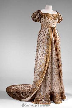 Dress worn to the wedding of Napoleon Bonaparte and Marie-Louise, 1810.