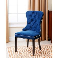 Abbyson Living Versailles Tufted Dining Chair, Navy Blue for sale online Find Furniture, Dining Room Furniture, Room Chairs, Side Chairs, Furniture Outlet, Online Furniture, Bar Chairs, Salvaged Furniture, Funky Chairs